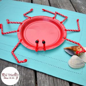 A Paper Plate Crab Craft for Kids to Make & finding dory craft Archives - Kid Friendly Things to Do.com ...