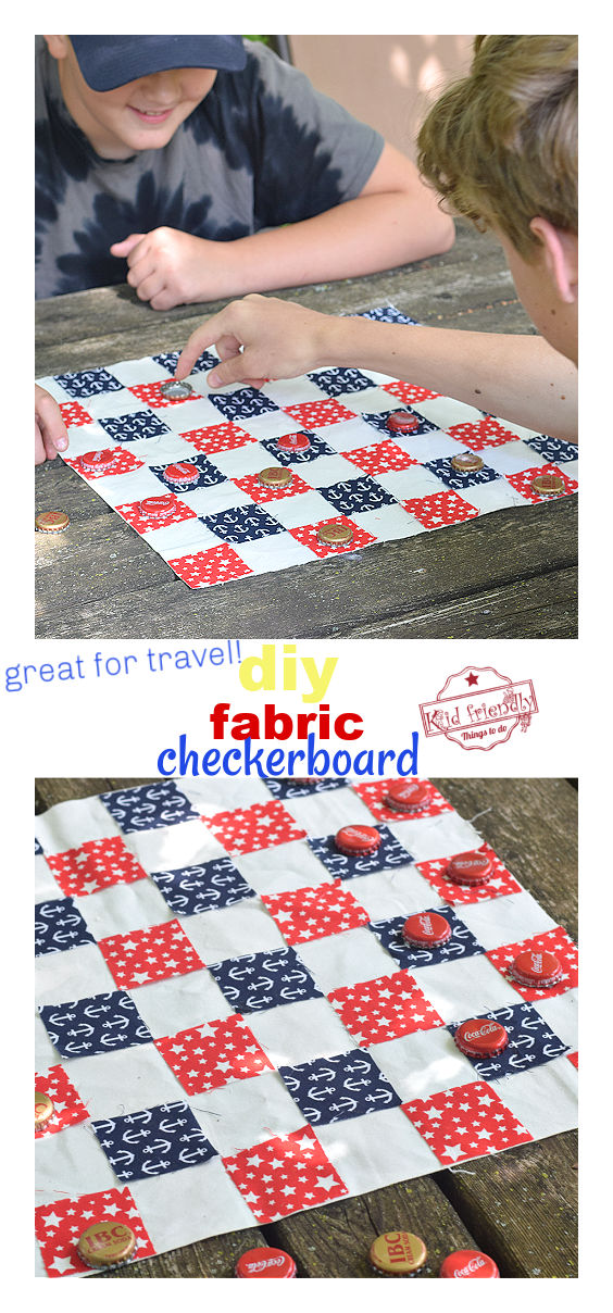 diy fabric checkerboard for kids