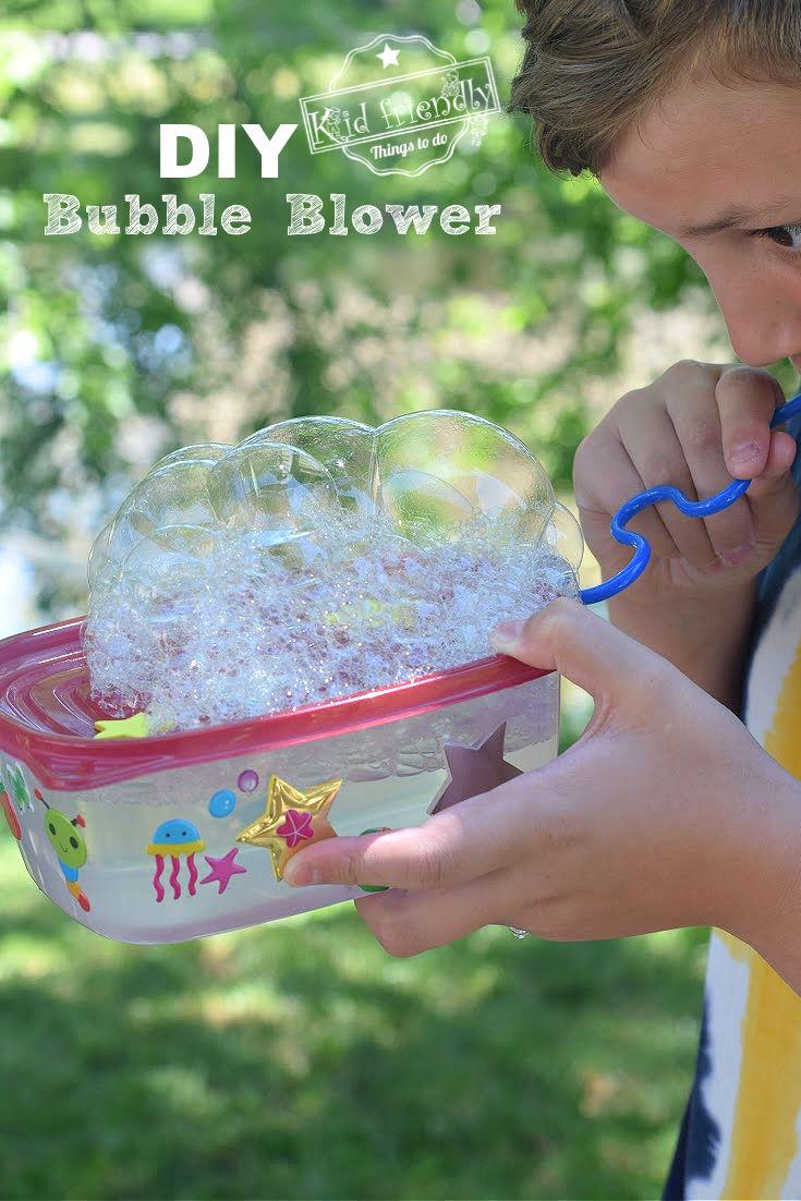 diy bubble blower for kids