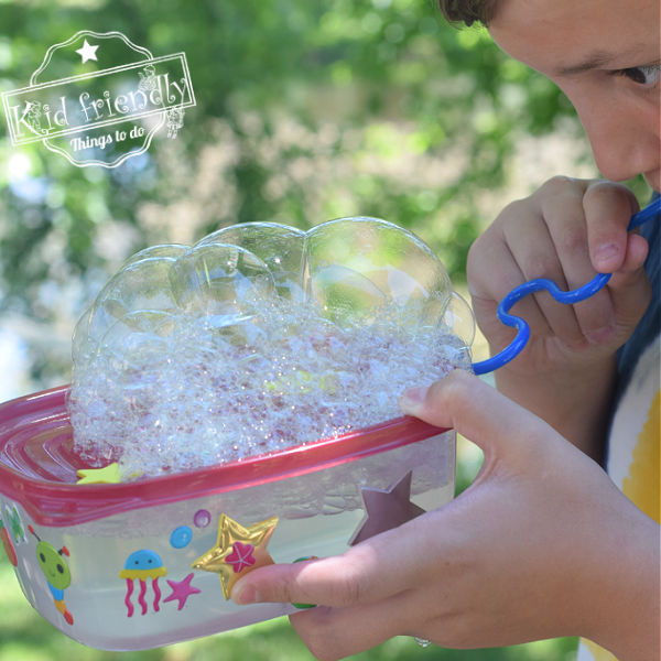 DIY Bubble Making Machine for Kids to Play With