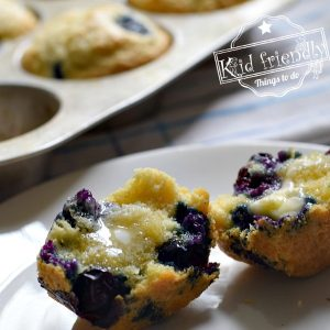 Semi-Homemade Easy Blueberry Muffins {Made with Pancake Mix} | Kid Friendly Things To Do