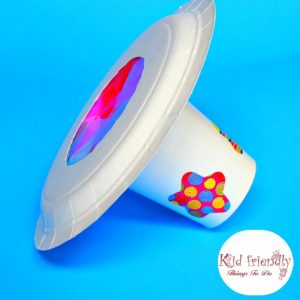 An Easy Kaleidoscope Craft From a Paper Plate and Cup