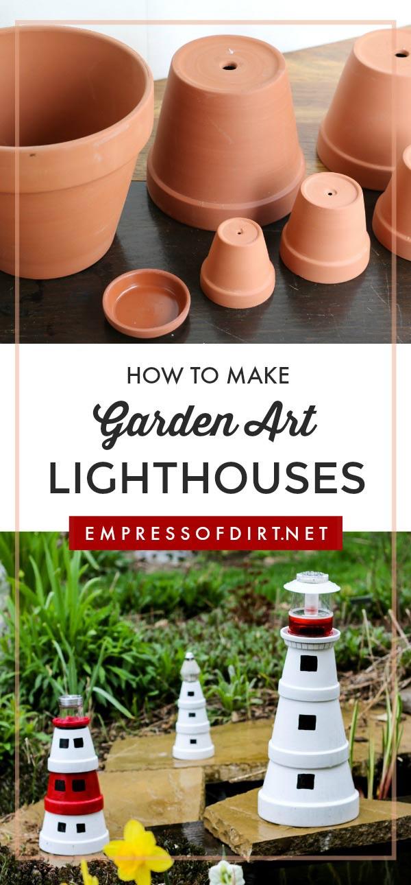 Outdoor Lighthouse for a Miniature Fairy Garden