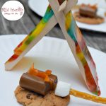 A Tent and Campfire Fun Food Idea for Kids - Perfect No Bake simple treat for camping, summer fun, boy scouts or girl scouts! www.kidfriendlythingstodo.com