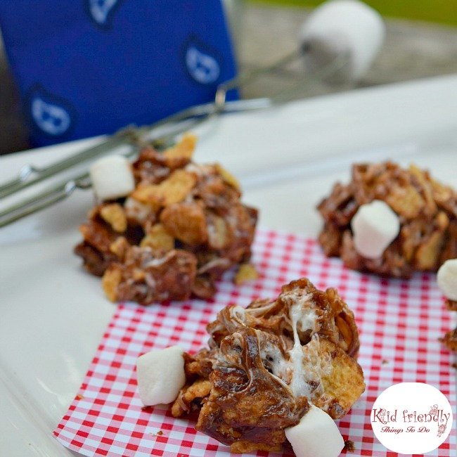 No Bake S'mores Dessert - Cinnamon Toasters Cereal S'mores Drops