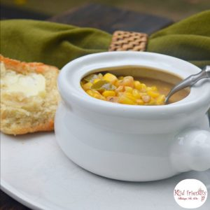 Easy Corn & Potato Chowder Recipe - Perfect comfort soup for fall or any other time you need it! www.kidfriendlythingstodo.com