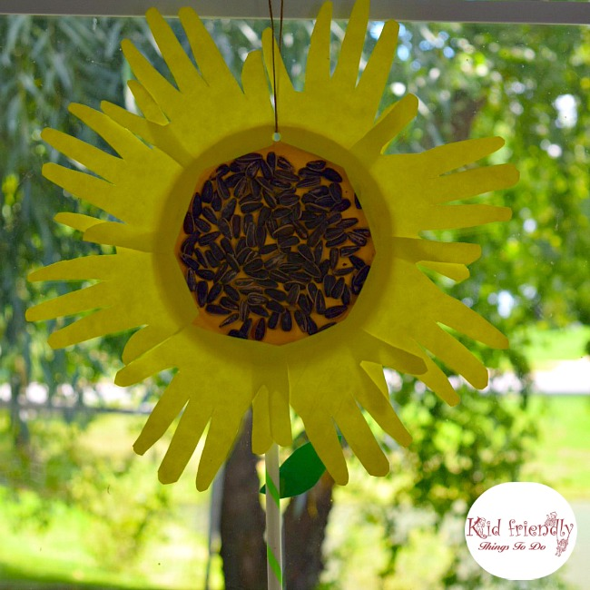 Sunflower Hand Print Paper Plate Craft for Kids