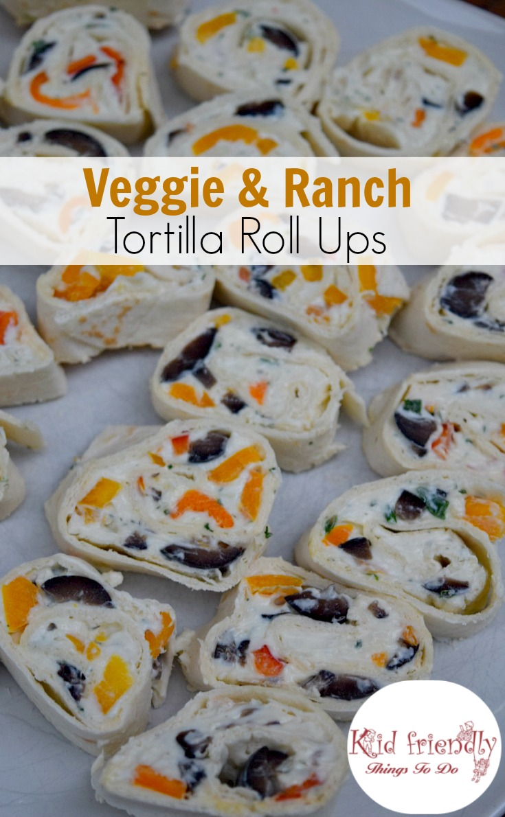 Easy Vegetable and Ranch Pinwheel Appetizer Recipe - This is an old cookbook family recipe that's perfect for holidays, game days, and cook outs -  www.kidfriendlythingstodo.com