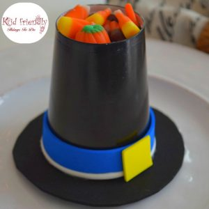 Pilgrim Hat Cup Treat Holder Craft for a Kid Friendly Thanksgiving
