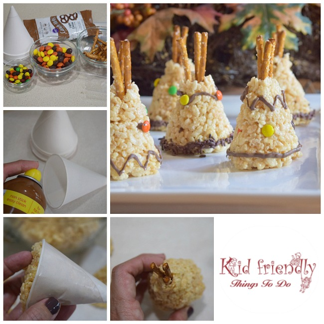 Rice krispies teepee treat for a kid friendly thanksgiving perfect for thanksgiving or a native american fun food idea for kids this is forumfinder Images