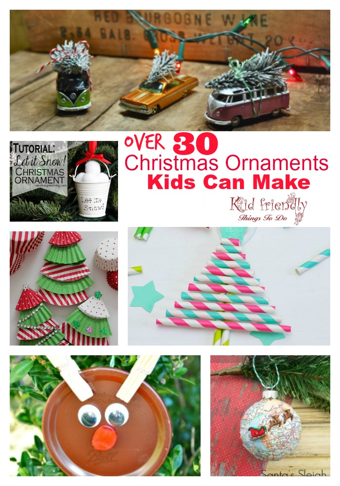 over 30 easy to make ornaments for kids christmas parties at school or just for fun - Childrens Christmas Party Decoration Ideas
