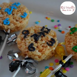 Countdown to the New Year Rice Krispies Treats for Kids