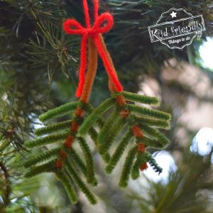 Pipe Cleaner Ornament (A Pretty Pine Bough) | Kid Friendly Things To Do