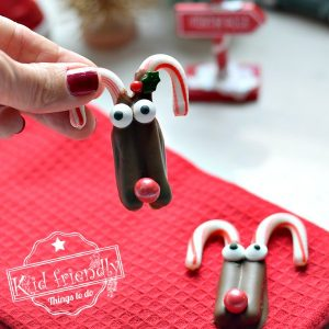 Simple Candy Cane & Chocolate Rudolph Treats for Christmas | Kid Friendly Things To Do