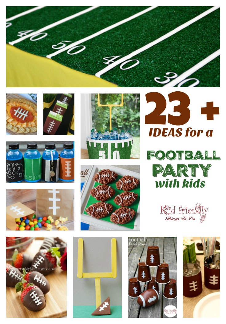 Football Party With Kids Ideas Decorations Recipes Games More