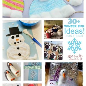 Easy Winter themed crafts for kids to make and fun food treat ideas to brighten the house and classroom! Perfect for winter parties. www.kidfriendlythingstodo.com