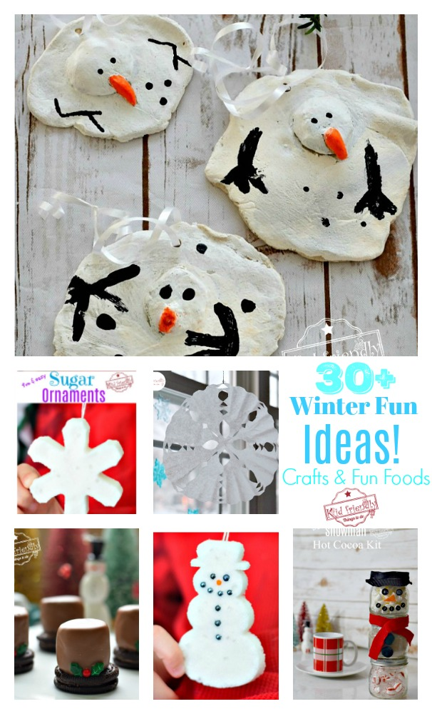 Over 31 Winter Themed Fun Food Ideas and Easy Winter Crafts Kids Can Make