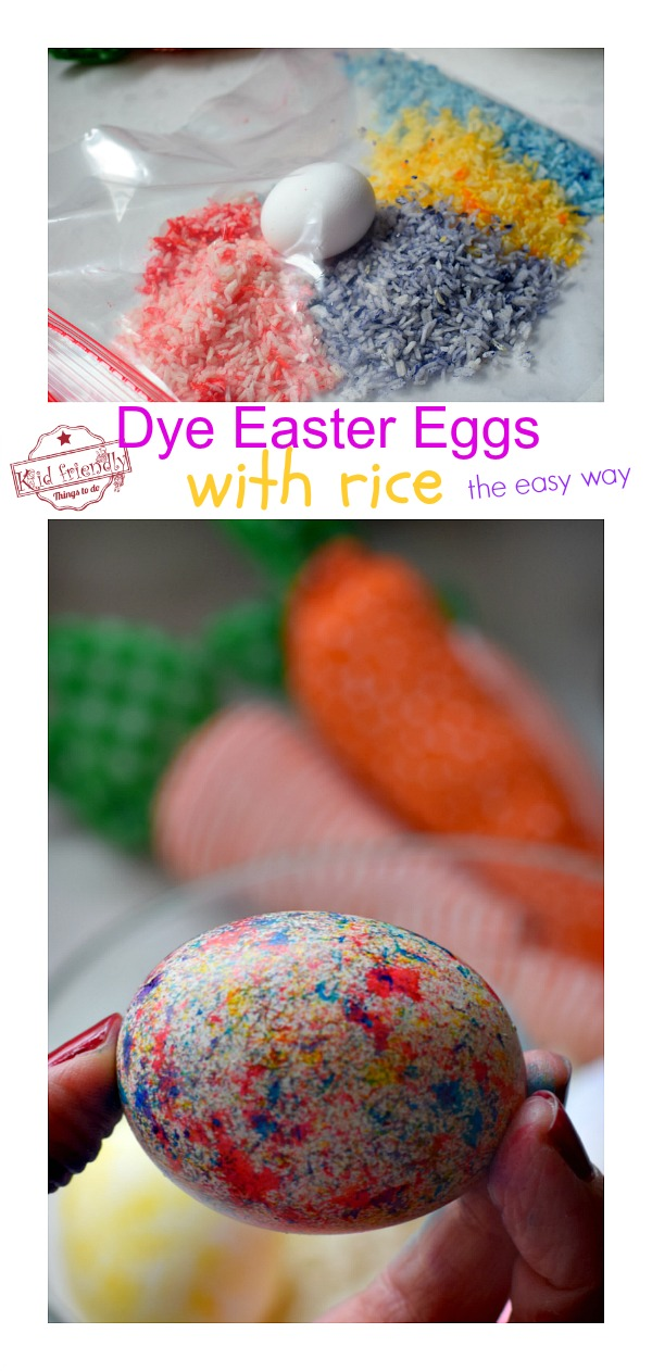 Dye Easter Eggs with Rice