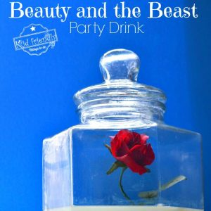 A Simple Beauty and the Beast Party Drink Idea For Kids