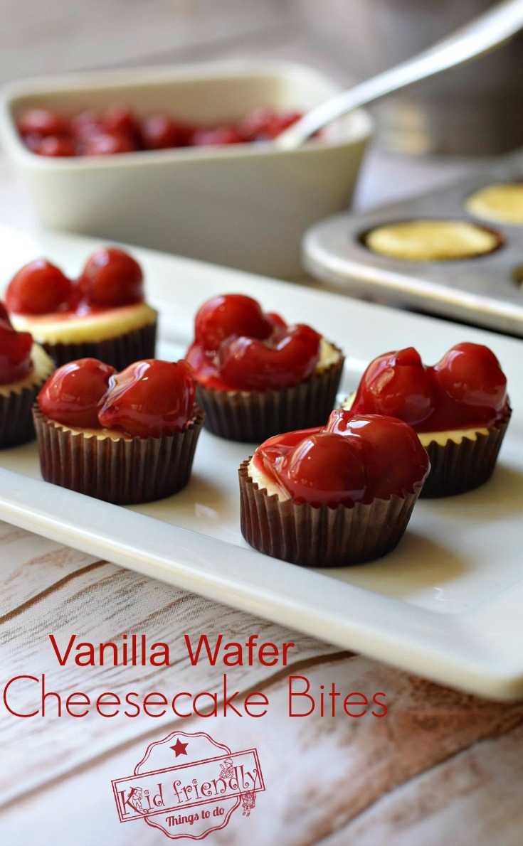 Classic Vanilla Wafer Cheesecake Bites