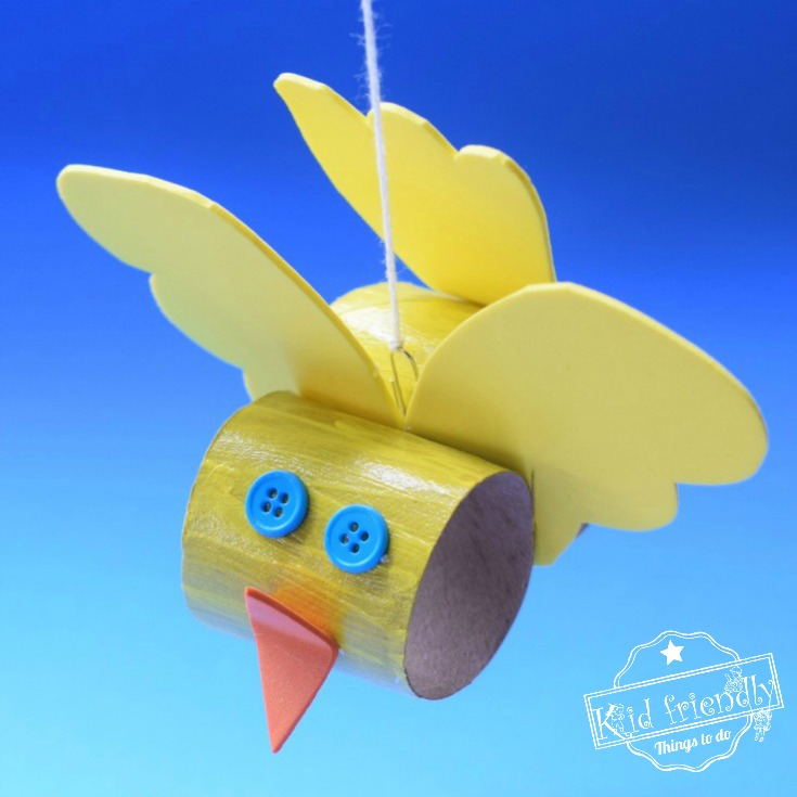 Make a Cute Toilet Paper Tube Bird Craft with Kids – Easy to Make and So Cheerful