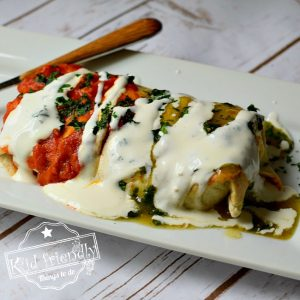 Smothered Chicken Burrito Recipe With Rice and Avocado