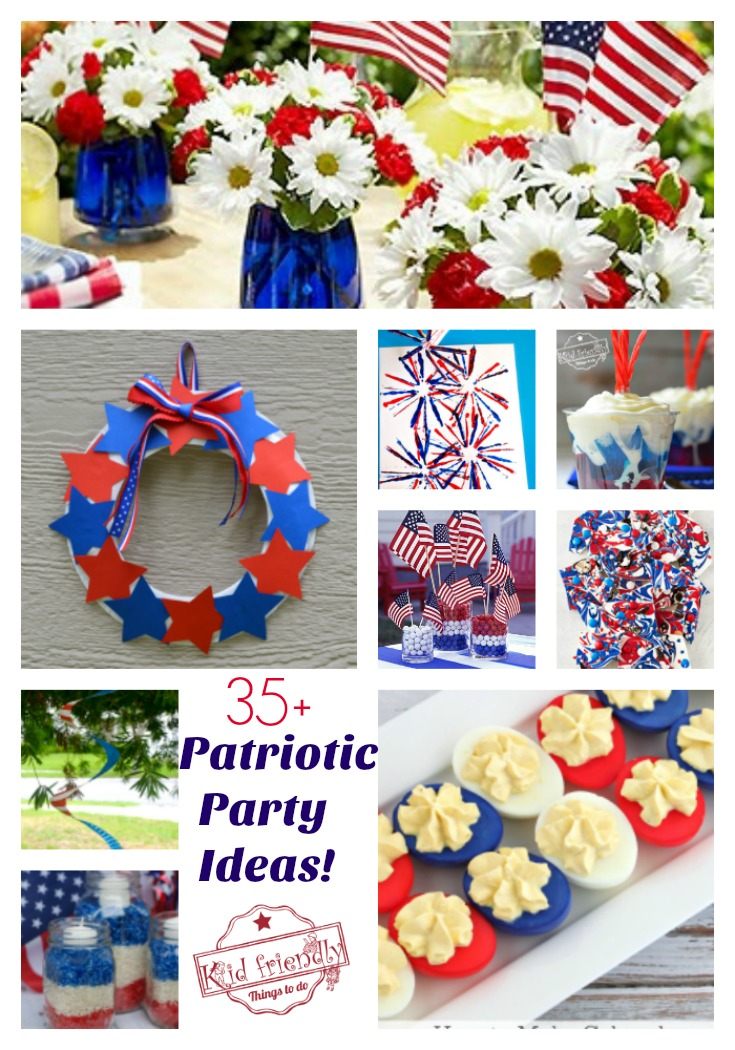 Tons of Patriotic Party Ideas! Crafts DIY Decorations fun food treats and Recipes  sc 1 st  KidFriendlyThingsToDo : patriotic party decorating ideas - www.pureclipart.com