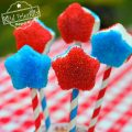 Easy Red, White and Blue Patriotic Star Marshmallow Pops for Kids - Fun Food Treat For summer, Fourth of July, Memorial Day or Labor Day - www.kidfriendlythingstodo.com