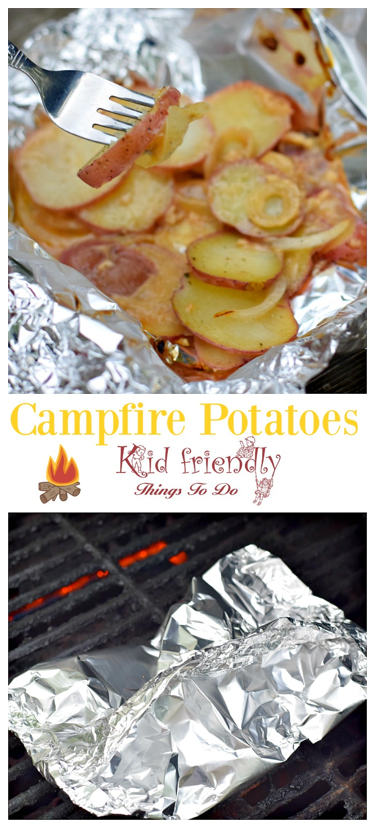 Campfire Potatoes in Foil Packet