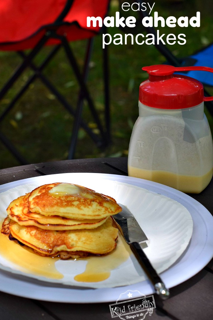 Make ahead Pancakes for an Easy Camping Breakfast Recipe