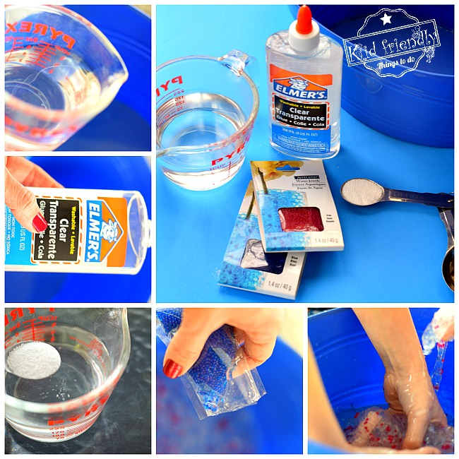 How to Make Homemade Sensory Slime - A Fun and Easy DIY Recipe for Kids - With just 4 simple to find ingredients. www.kidfriendlythingstodo.com