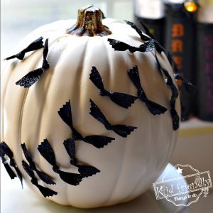 Easy No Carve Pumpkin Idea for Kids to Decorate at Halloween