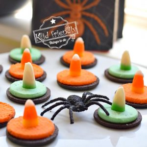 Easy to Make Witch Hat Oreo Cookies for a Fun Kid Halloween Food Idea