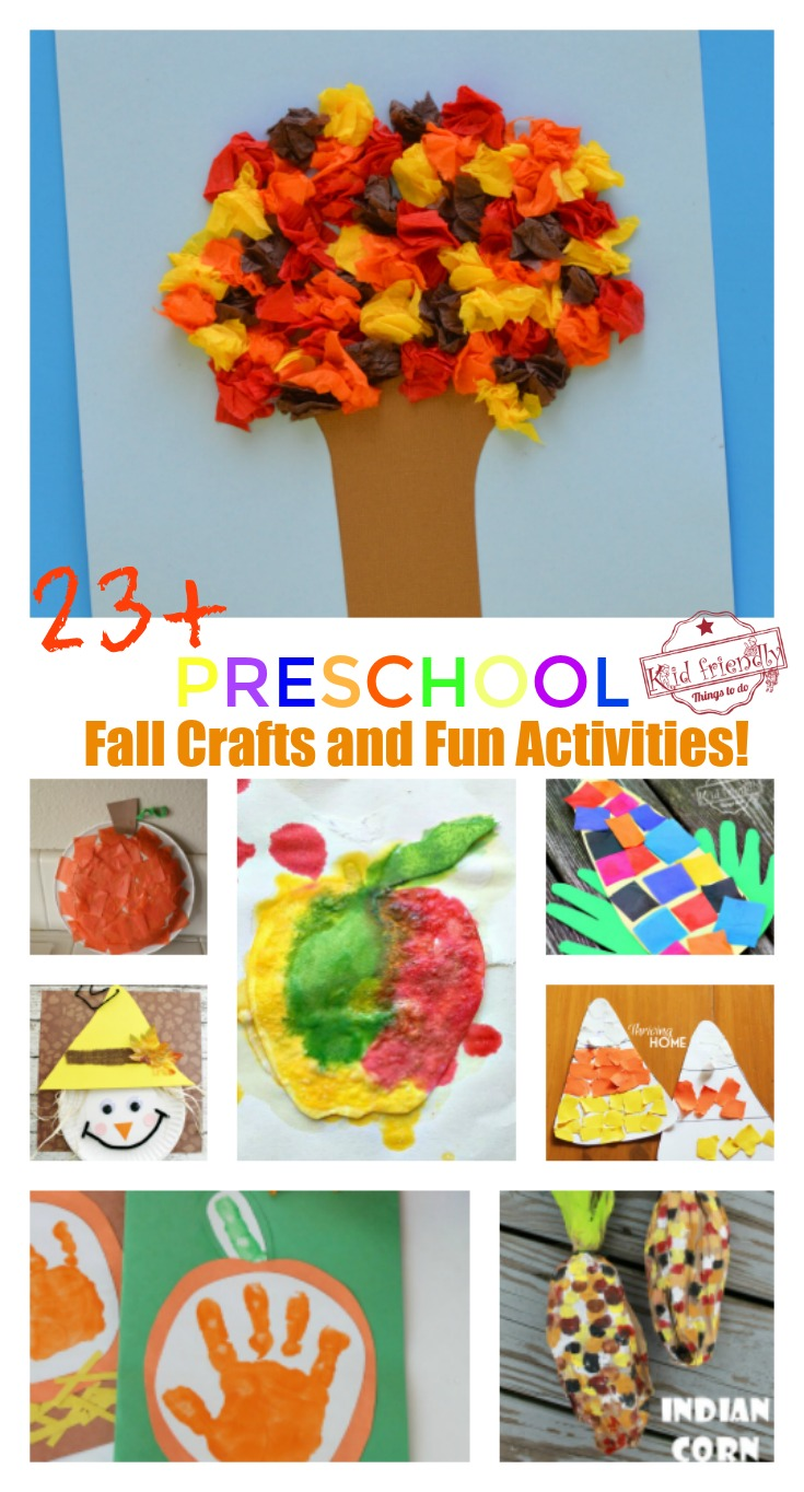 good Fall Craft Preschool Part - 1: Over 23 Adorable and Easy Fall Crafts that Preschoolers Can Make - Cute fall  craft for