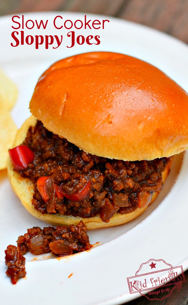The Best Slow Cooker Sloppy Joes I've Ever Had Recipe! - Easy crock pot recipe for ground sirloin beef. Great family dinner for busy nights - www.kidfriendlythingstodo.com