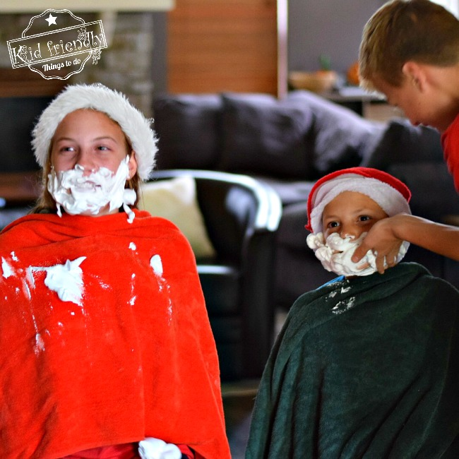 Group Games For Christmas Party: Shave Santa's Beard Christmas Game For Kids, Teens, And