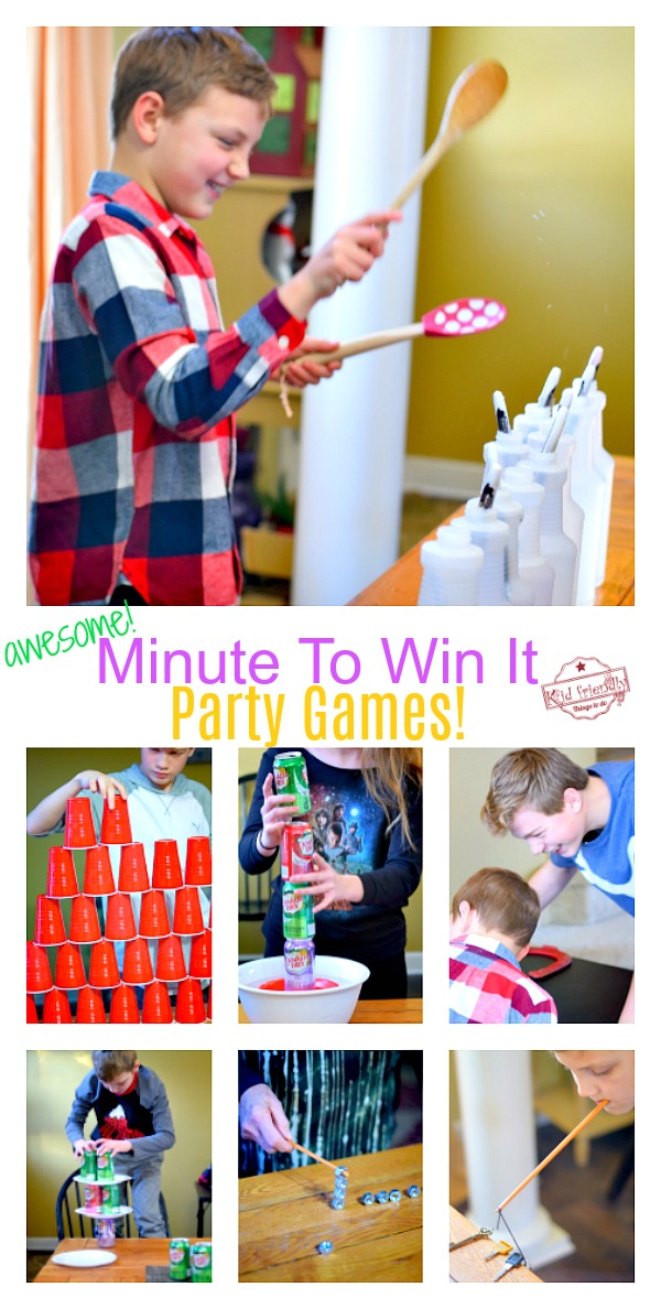 Minute to Win It Family Games