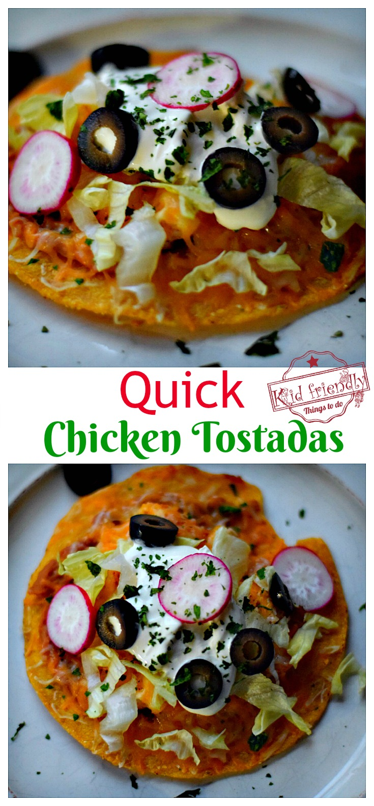 Quick Chicken Tostadas - An Easy Mexican Food Recipe