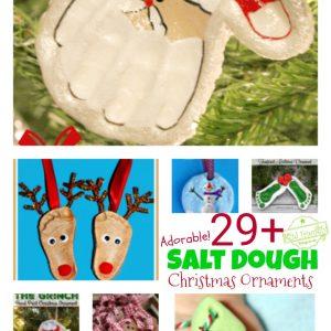 Over 29 DIY Homemade Salt Dough Ornaments for the Kids to Make this Christmas! Great Salt Dough recipes and ideas for the tree! - www.kidfriendlythingstodo.com