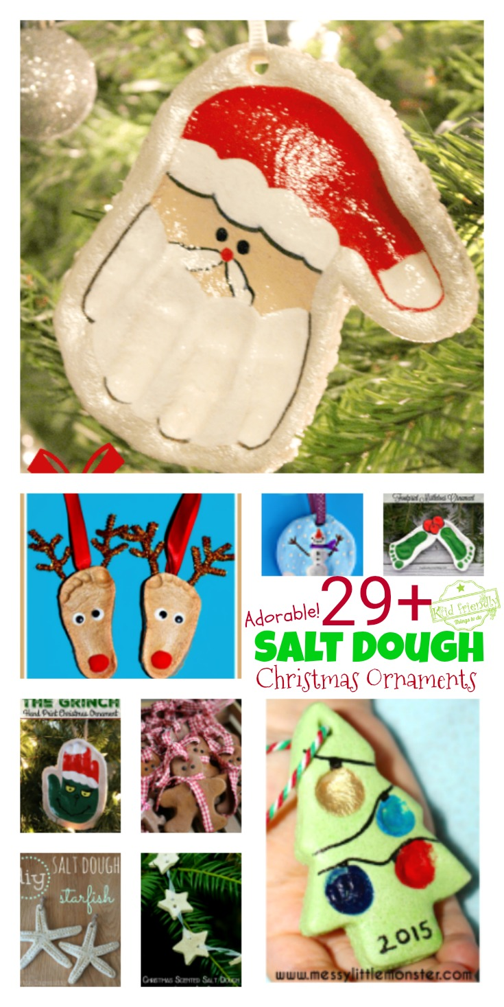 over 29 diy homemade salt dough ornaments for the kids to make this christmas great
