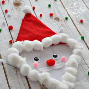 Make A Cute Santa Claus Out of A Coat Hanger! – Easy Kid's Craft for Christmas