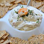 The Best Cold Shrimp Dip Recipe - With Cream Cheese - Perfect appetizer for Thanksgiving and Christmas holidays and potlucks over summer - www.kidfriendlythingstodo.com