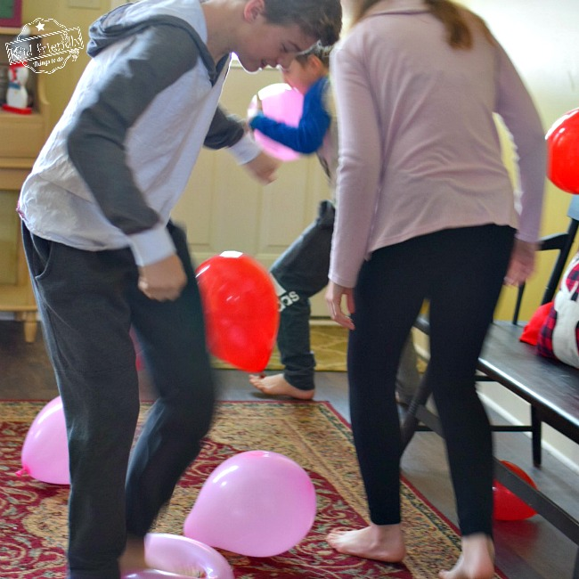 Valentine Balloon Stomp Word Scramble Party Game For Kids and Teens