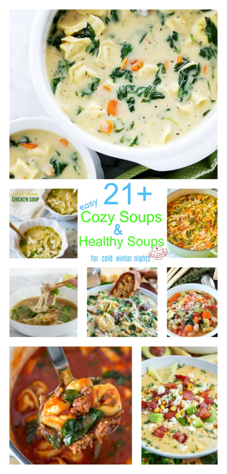 Over 21 Cozy and Easy Soup Recipes and Healthy Soup Recipes For Those Cold Winter Nights