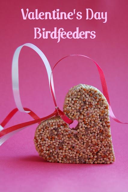 valentine's day bird feeder craft