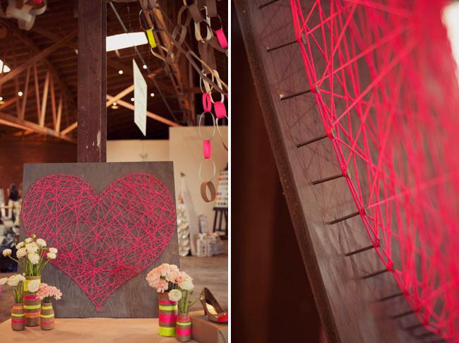 string art Valentine's day craft for kids