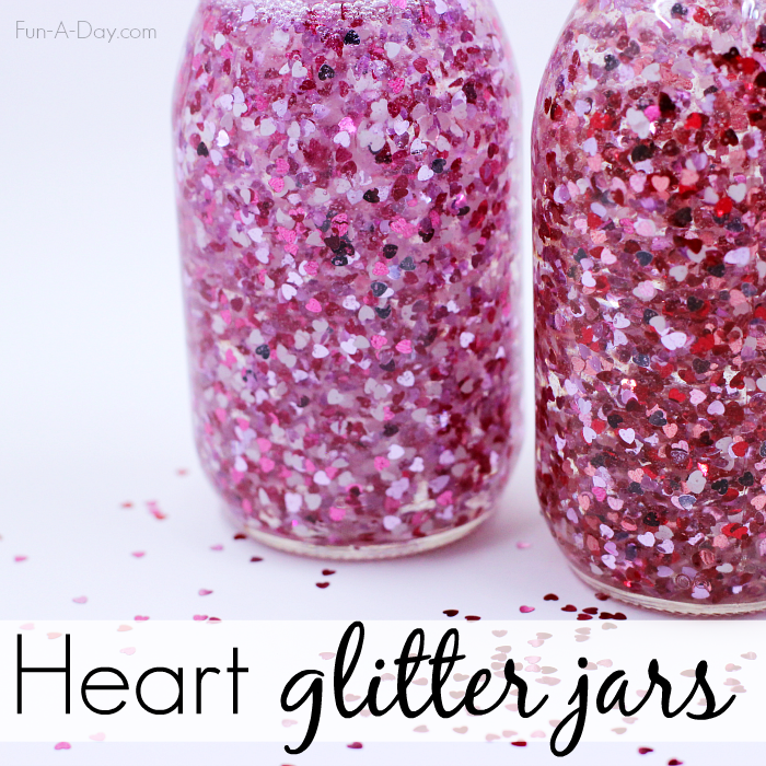 glitter jars for valentines day craft