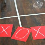 Human Tic-Tac-Toe Game - A Fun Game to Play With Kids, Teens and Adults. This is such a fun game. Perfect for holiday parties like Valentine's Day, Christmas and even New Years Eve! www.kidfriendlythingstodo.com