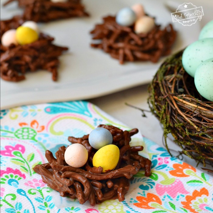 Bird Nest Haystack Cookie Recipe With Chow Mein Noodles {No Bake} | Kid Friendly Things To Do