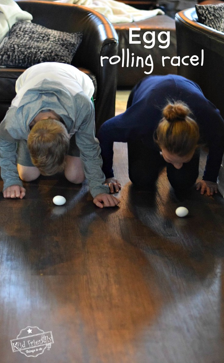 Egg Rolling Race Easter Game For Adults Kids And Teens